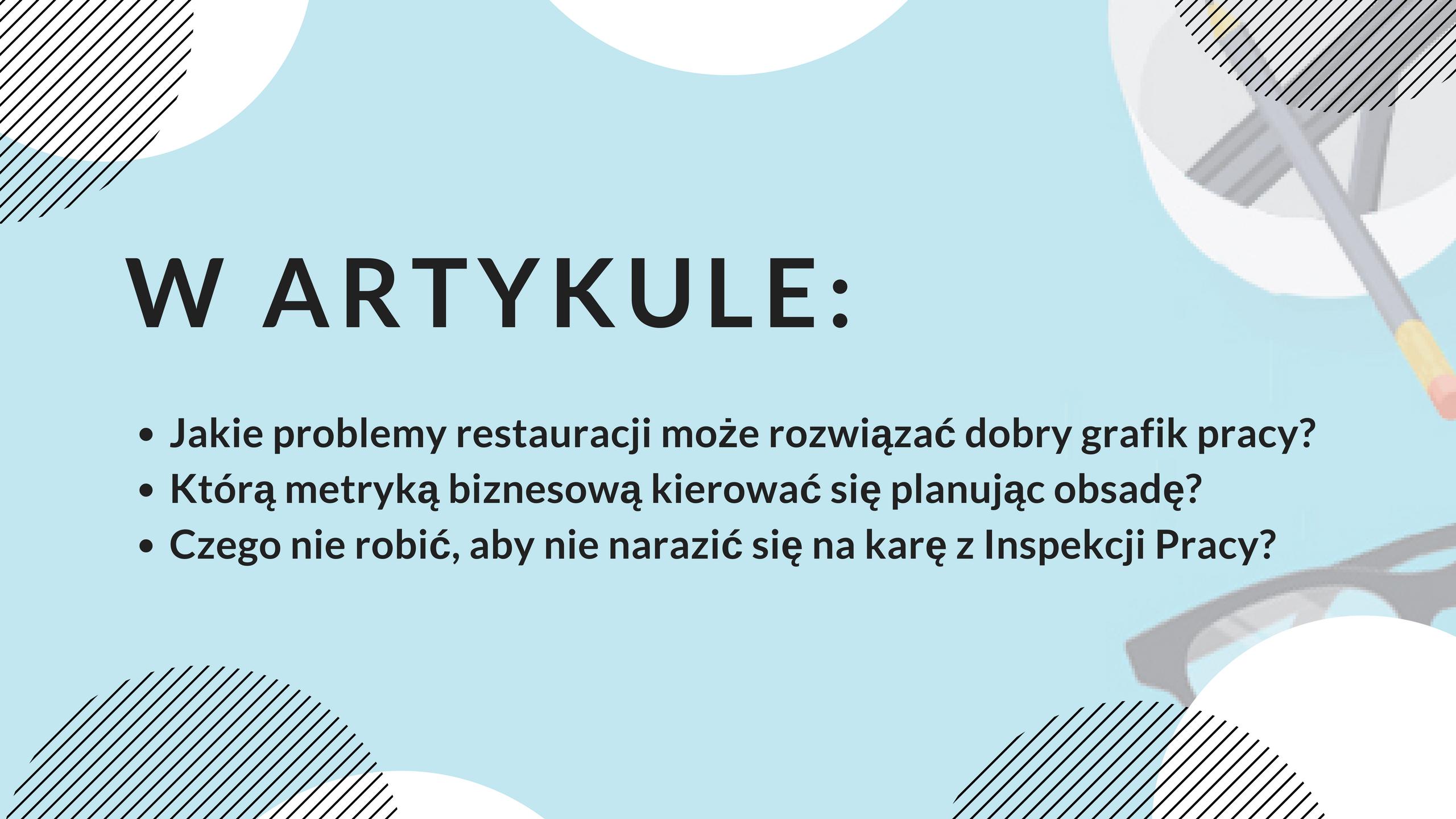 Grafik pracy w restauracji: jak go stworzyć?