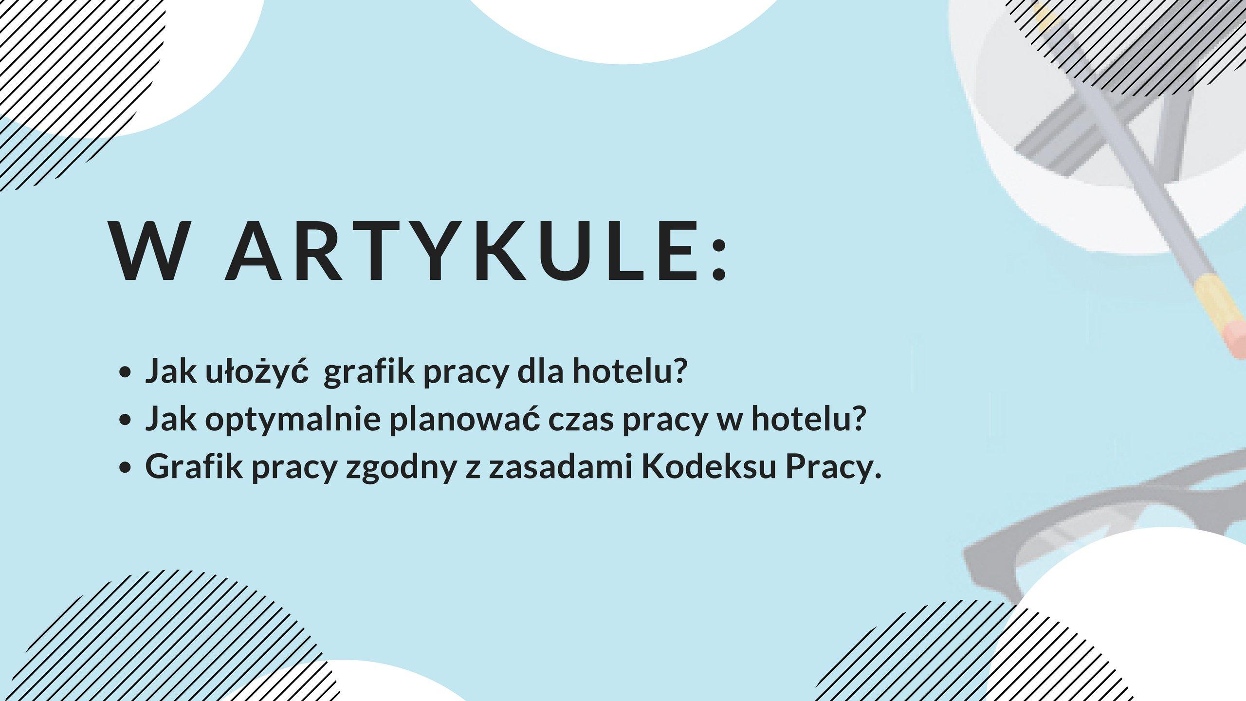 Grafik dla hotelu - praktyczne porady