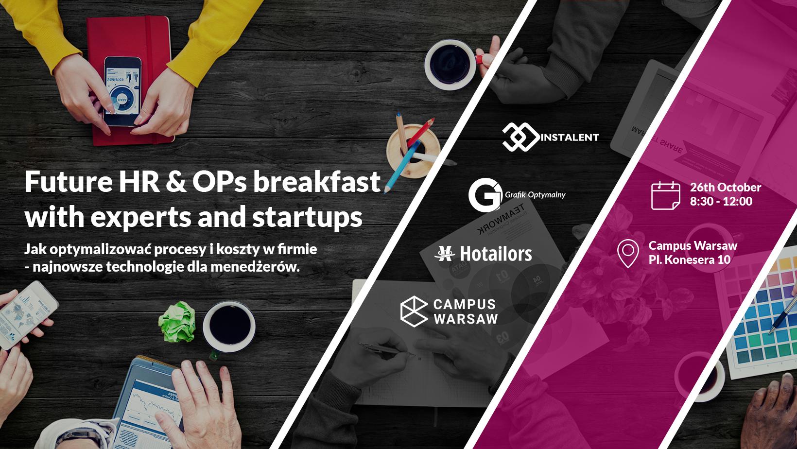 Grafik Optymalny współorganizatorem konferencji Future HR & OPs breakfast with experts and startups