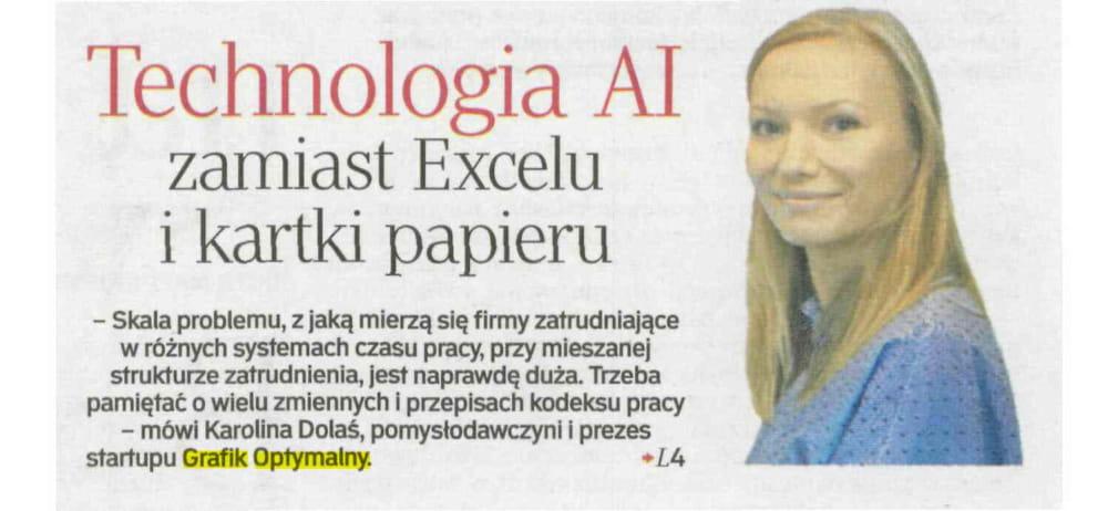 Technologia AI zamiast Excelu i kartki papieru