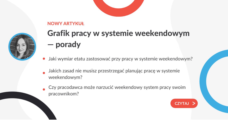 Grafik pracy w systemie weekendowym — porady